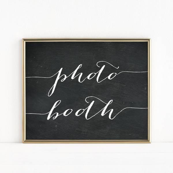 Printable Booth Sign Wedding Table