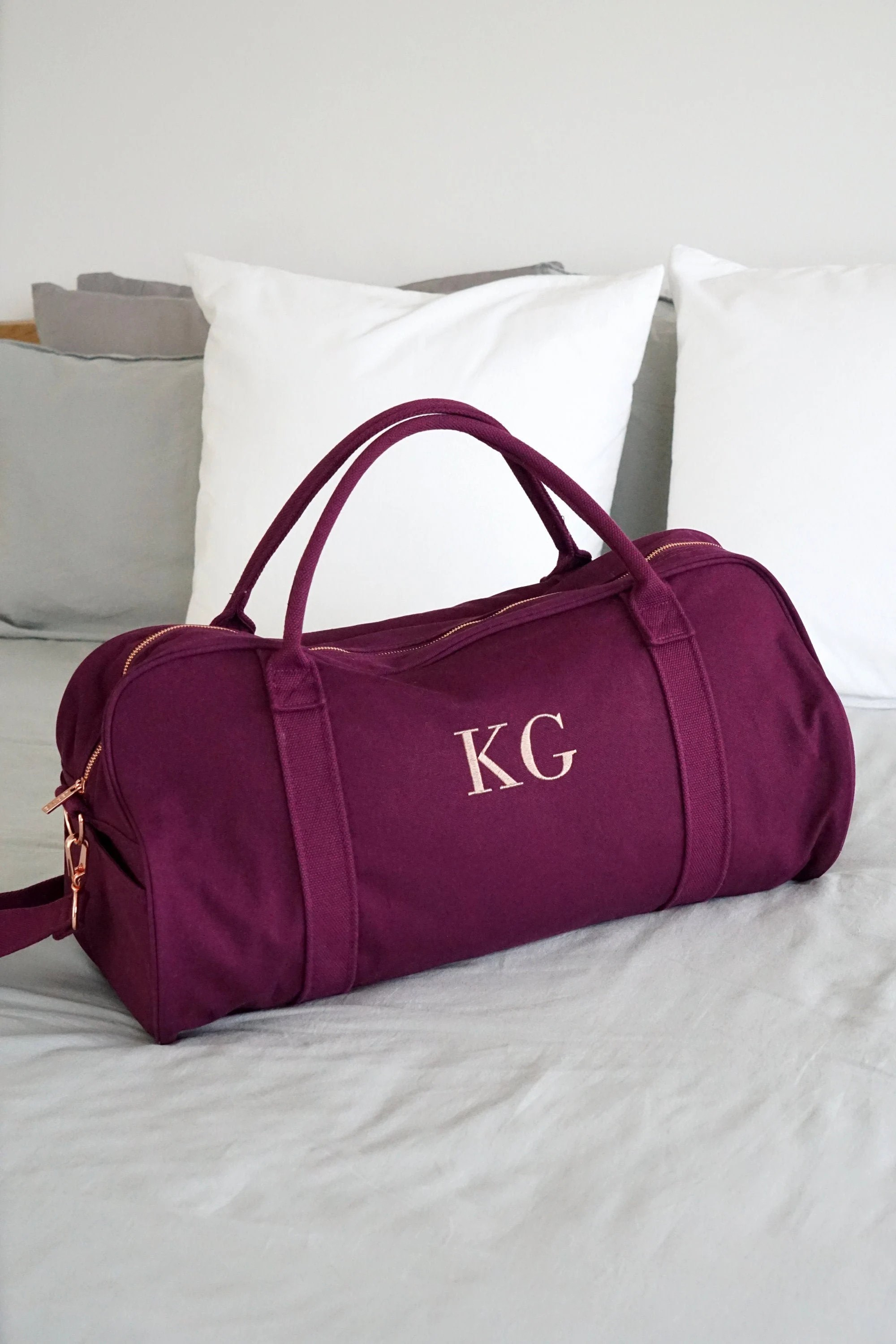 Personalised Bag //Duffle Bag //Bridesmaid Gifts //Monogrammed Mulberry