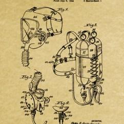 Scuba Gear Diagram Emg 81 85 Pickup Wiring Diving Poster Patent Print Marine Etsy 50