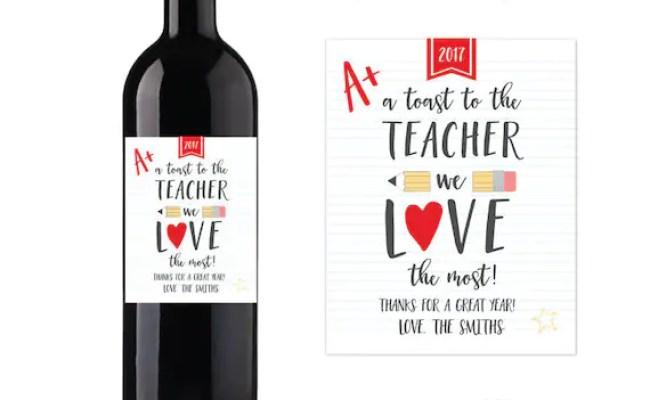 Teacher Appreciation Gift Personalized Teacher Wine Gift