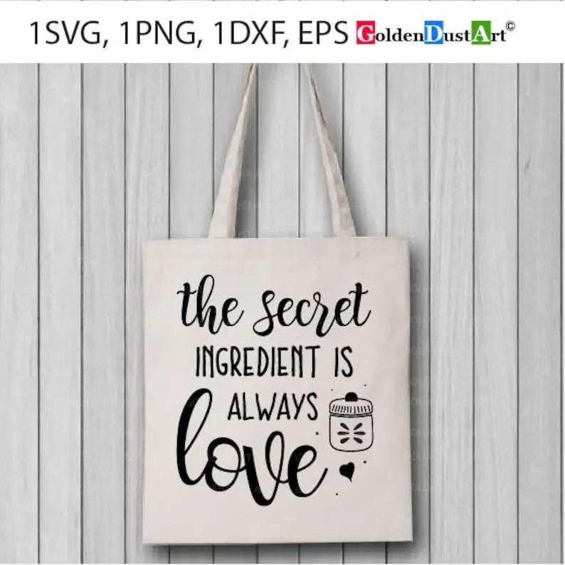 Download The Secret ingredient is always love Kitchen Home Decor ...