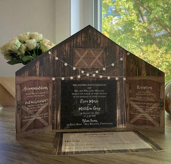 Rustic Wedding Invitations Lights