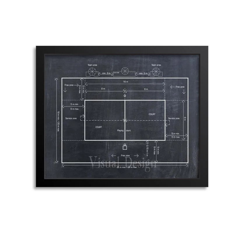 beach volleyball court diagram 1994 harley davidson fatboy wiring coach gift decor etsy image 0