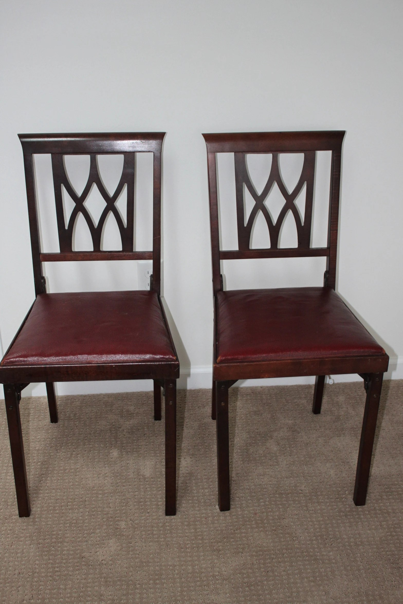 Foldable Dining Chairs Pair Of Leg O Matic Folding Dining Chairs Spare Chairs