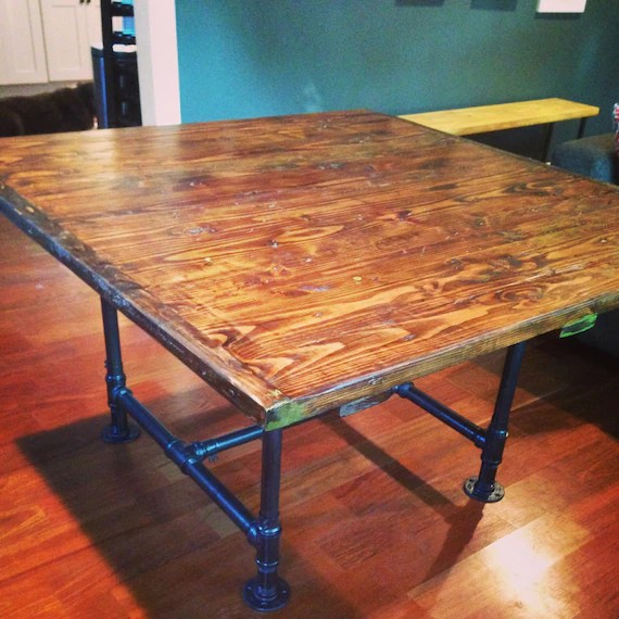 kitchen table top cabinets online design industrial with rustic etsy image 0
