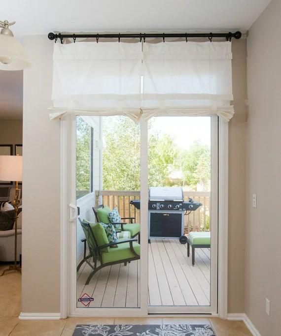 off white sliding glass door curtain shade per panel etsy