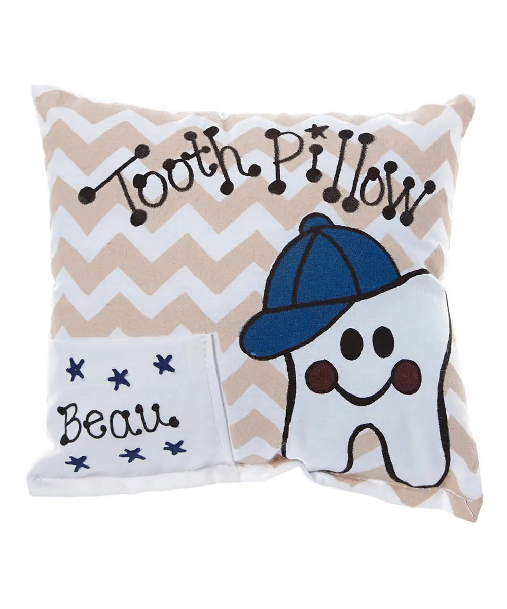 tooth fairy pillow boy personalized tooth pillow lost tooth personalized pillow chevron tooth fairy pillow lost tooth pillow