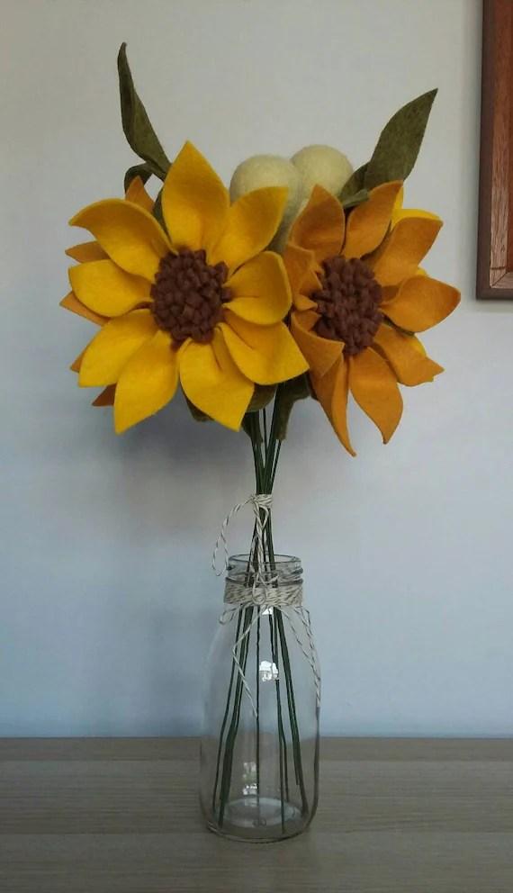 Felt Sunflowers