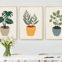 Kitchen Art Prints Spoon Print Etsy Set Of 3 Printable Wall Botanical Scandinavian Modern Minimal
