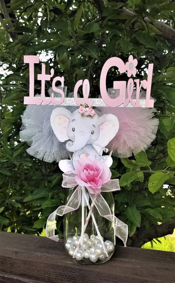 Elephant Centerpieces : elephant, centerpieces, Elephant, Centerpiece/Girl, Shower/Girl