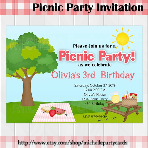 picnic party invitation picnic birthday picnic invitation picnic time picnic invite picnic birthday party party girl party boy baby
