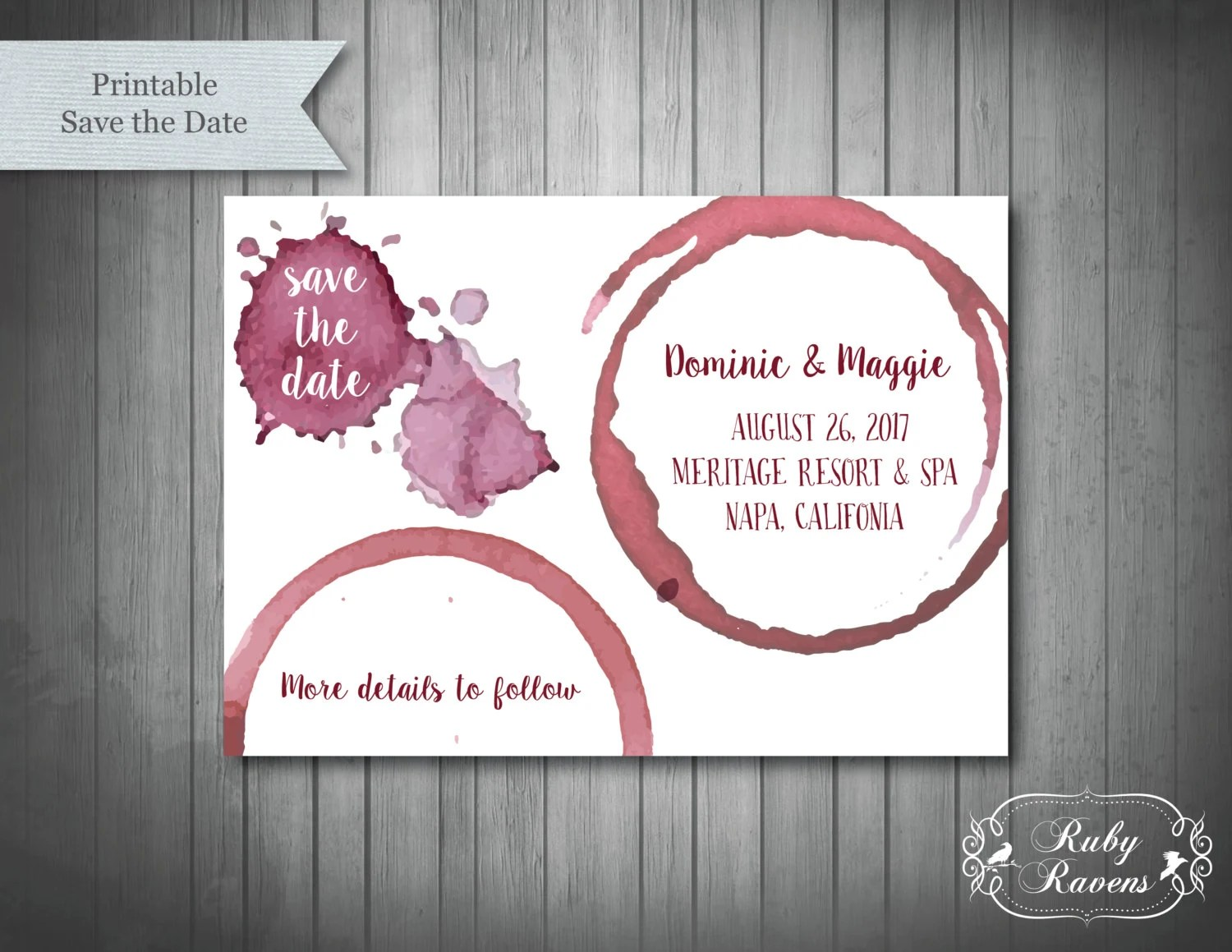 wine theme save the