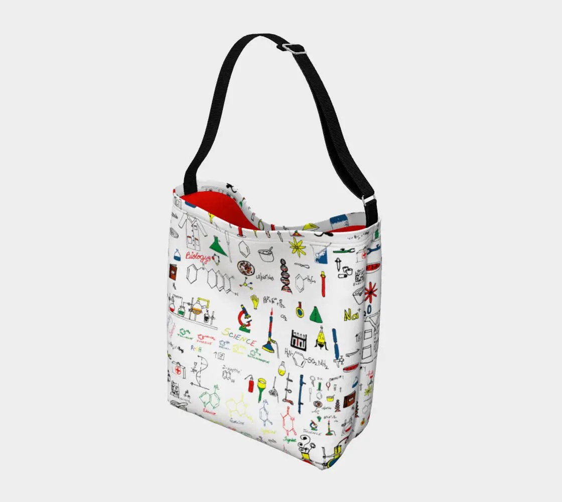 Science Lab Stretchy Neoprene Messenger Tote Bag Purse