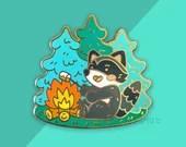 Camp Raccoon Enamel Pin