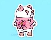 Bad Puss Weatherproof Sticker