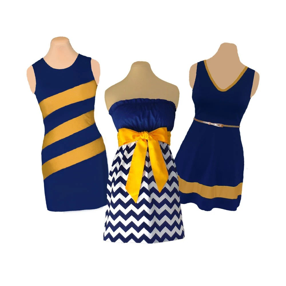 blue navy gold yellow