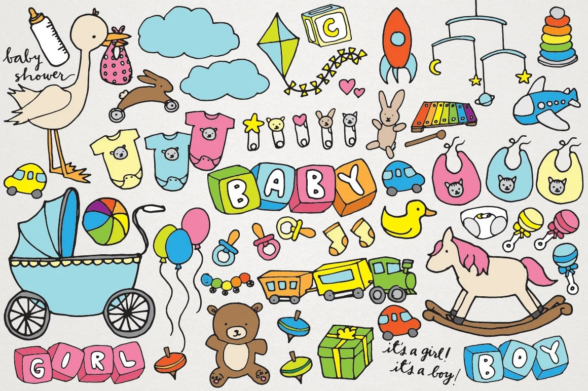 baby clipart hand drawn