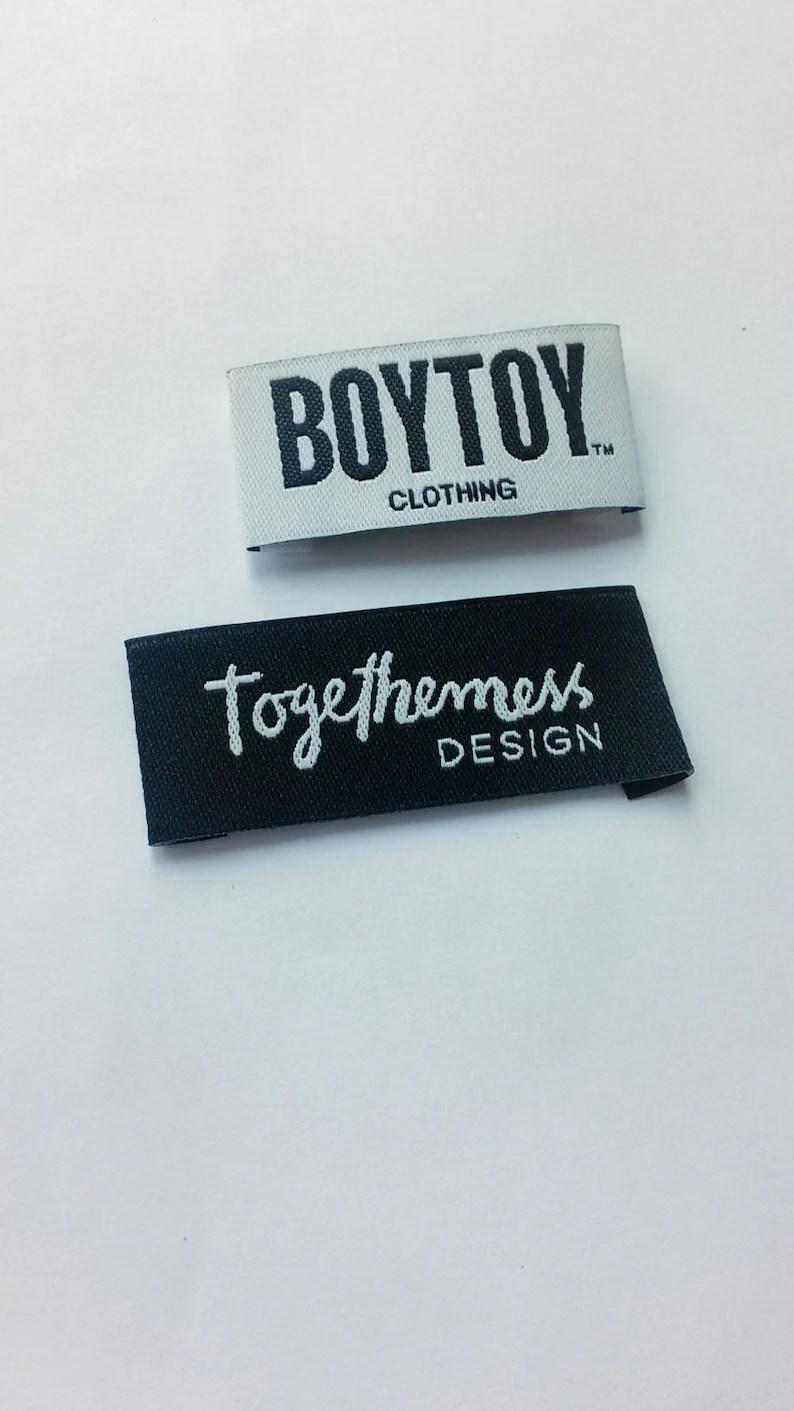 100pcs custom clothing label