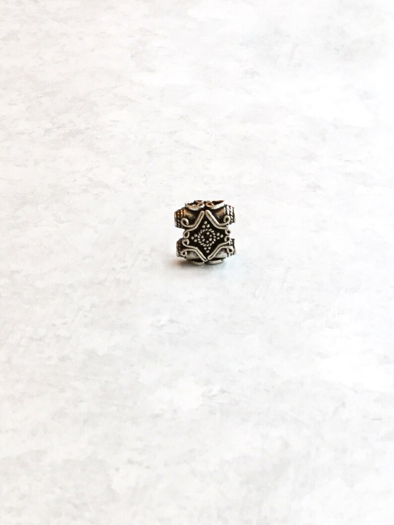 925 solid sterling silver findings 14mm square Bali silver