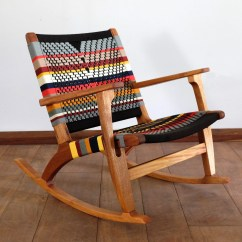 Cheap Modern Rocking Chair Vinyl Dining Covers Etsy Mid Century Accent Lounger Colors Handwoven Seat Black Stripes Linear Pattern Retro Rustic