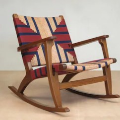Danish Modern Rocking Chair Outdoor Circle Mid Century Etsy Accent Lounger Walnut Handwoven Seat Navy Burgundy Linear Pattern Retro Rustic
