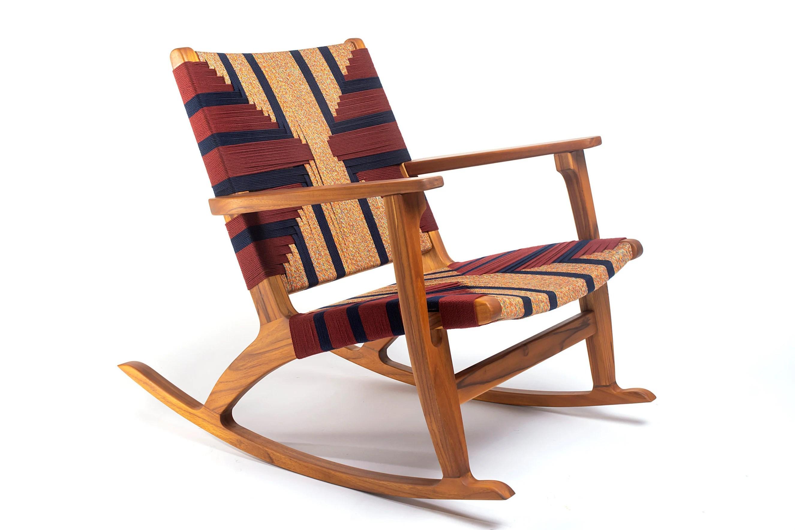 handmade rocking chairs ergonomic recliner chair custom woven pattern eco friendly etsy 50