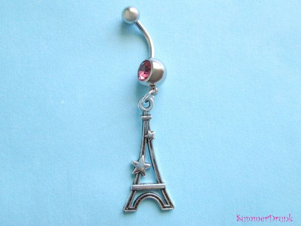 Belly Button Ring Eiffel Tower Ringnavel Ringbelly