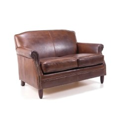 Brown Leather Studded Sofa Sofas Valencia Es Free Shipping Vintage 2 Seater Etsy Image 0
