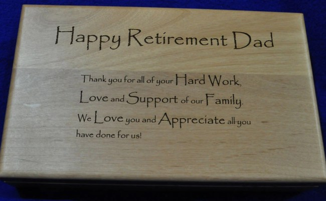 Retirement Gift Retirement Gift For Dad Engraved Wood Etsy