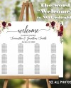 Wedding Seating Chart Alphabetical And By Table Find Your Seat Etsy