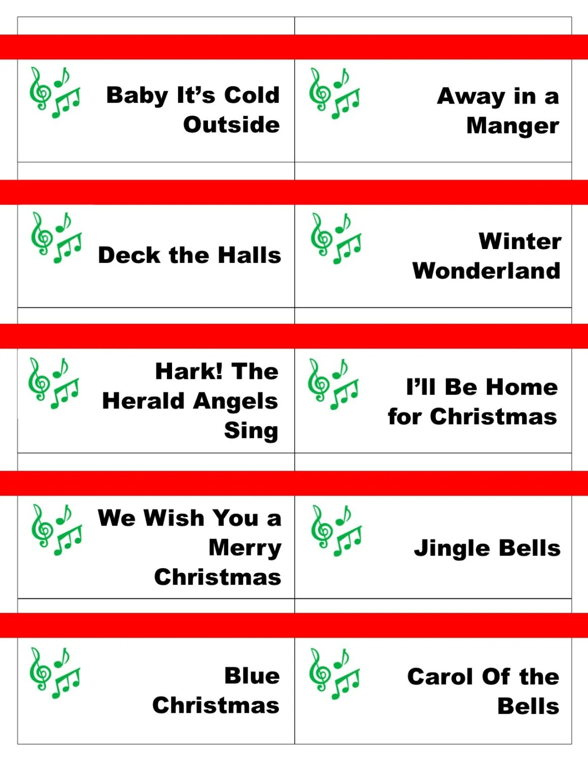 graphic relating to Christmas Carol Game Printable identified as Printable Xmas Carol Video game Playing cards For Pictionary Or5