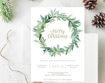 Holiday party invite   Etsy
