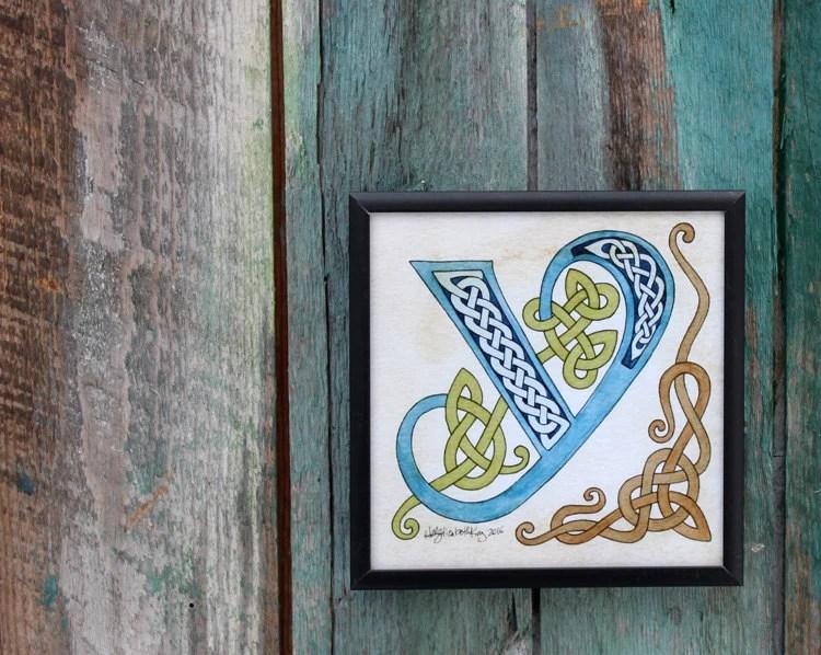framed letter art etsy