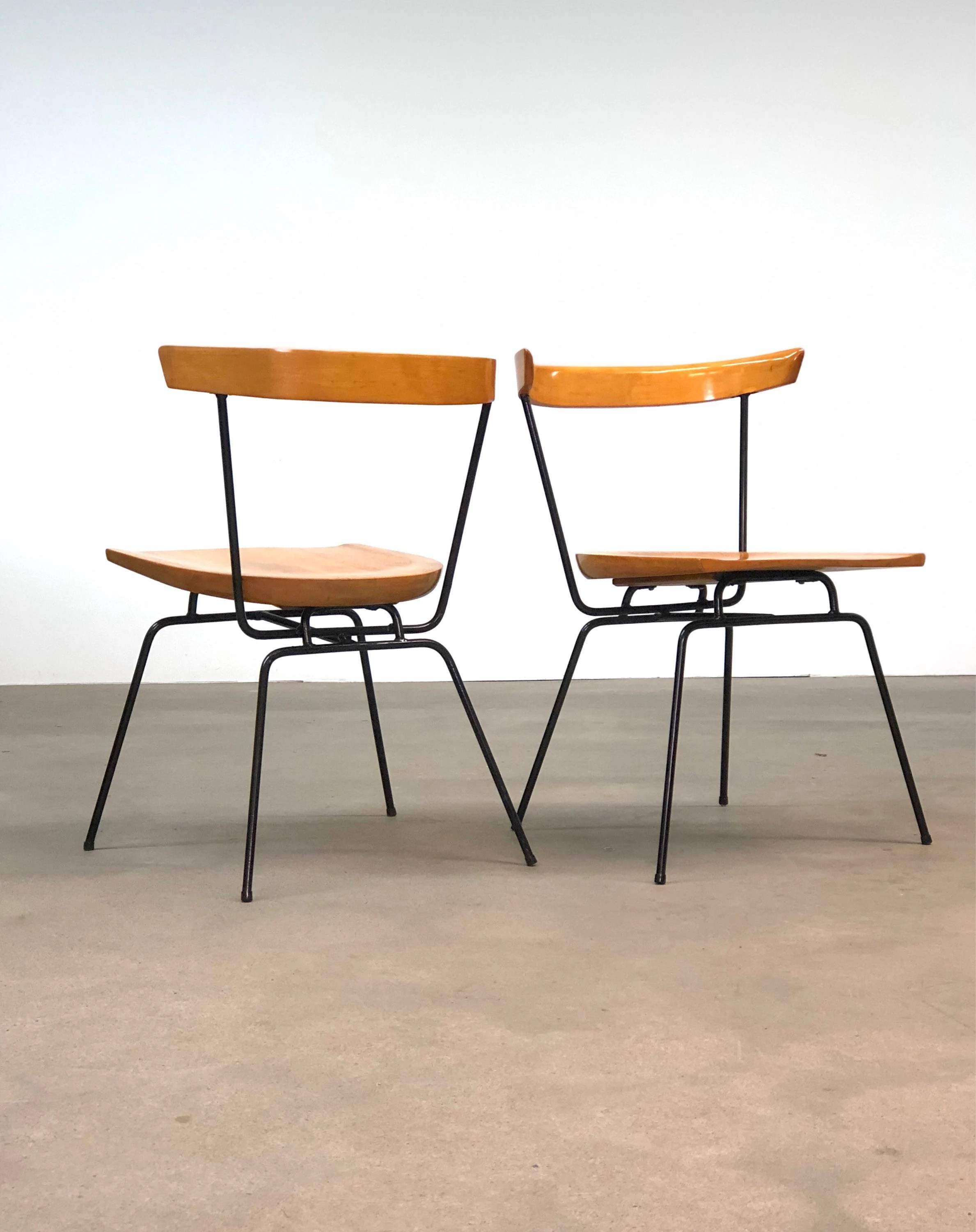 Paul Mccobb Chairs Paul Mccobb Iron And Birch 1535 Chairs Mid Century Iron