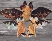 PRE-ORDER Ice Cream Waffle Cone Bat Plush