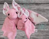 PRE-ORDER Pink Japanese Cherry Blossom Bat Plush Scented or No Scent