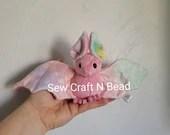 MADE TO ORDER Pink Pastel Galaxy Bat Plush