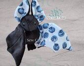 PRE-ORDER Black Blueberry Bat Plush Scented or No Scent