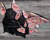 PRE-ORDER Black Pink Strawberry Bat Plush Scented or No Scent