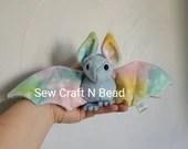 MADE TO ORDER Light Blue Pastel Galaxy Bat Plush