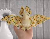 PRE-ORDER Custom Color Sunflower Bat Plush
