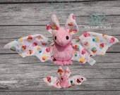 PRE-ORDER Pink Cupcake Bat Plush Scented or No Scent