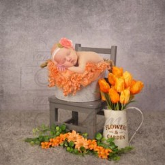 Orange Bucket Chair Eames Chairs Etsy Digital Newborn Floral Backdrop One Of A Kind Prop