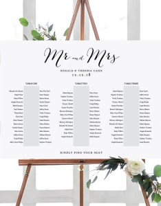 Banquet seating chart long tables table plan printable template wedding     sizes included edit in acrobat also etsy rh