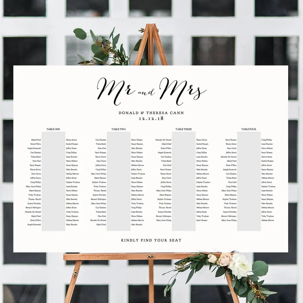 Banquet seating chart long tables table plan printable template sweet bomb    sizes included edit in acrobat also etsy rh