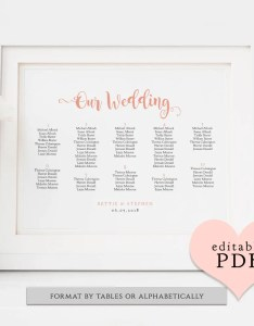 Wedding table plan pdf templates seating charts bettie sizes including      landscape edit in acrobat also rh connieandjoandiy