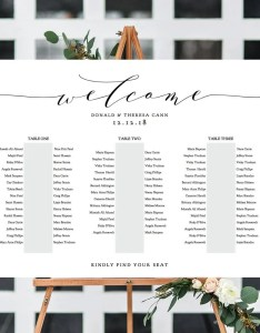 Banquet seating chart long tables table plan printable template wedding     sizes included editable pdf also rh connieandjoandiy