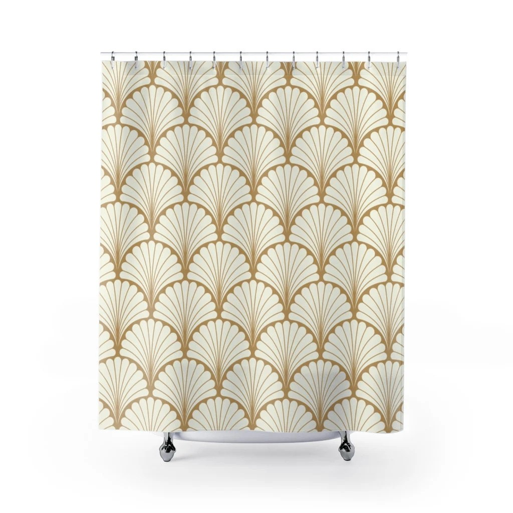deco shower curtains etsy