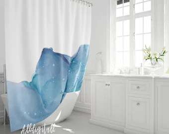 ombre shower curtain etsy