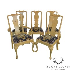 Henredon Asian Dining Chairs Fishing Chair Spare Legs Etsy Burl Wood Set Of 5 Vintage